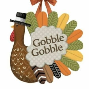 Gobble Gobble Turkey door decor